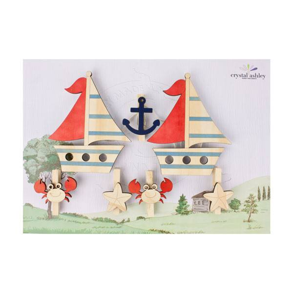 Crystal Ashley Art Pegs - Boats | Koop.co.nz