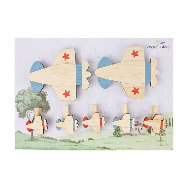 Crystal Ashley Art Pegs - Planes | Koop.co.nz