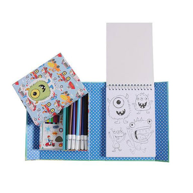 Tiger Tribe Colouring Set - Boys Favourites | Koop.co.nz