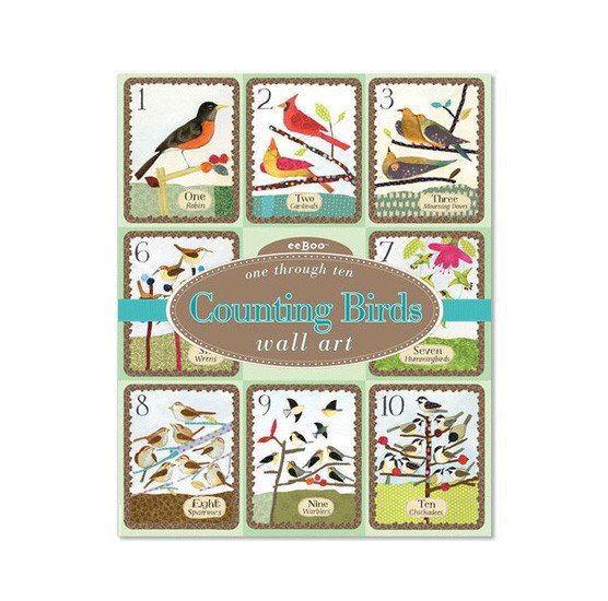 eeBoo Counting Birds Wall Cards (1-10) | Koop.co.nz