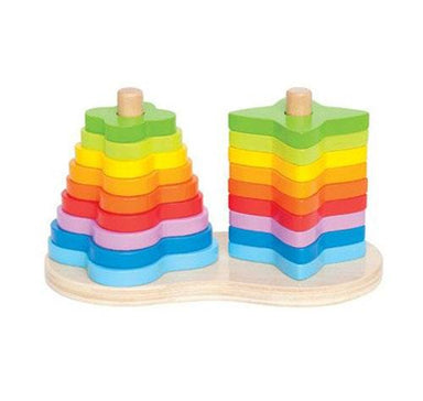 Hape Double Rainbow Stacker (19pc) | Koop.co.nz
