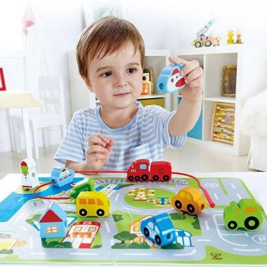 Hape Busy City Play Set (24pc) | Koop.co.nz
