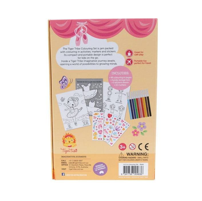 Tiger Tribe Colouring Set - Ballet | Koop.co.nz