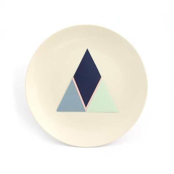 Cloud Nine Creative Art Plate - Cream Triangle (19cm) | Koop.co.nz