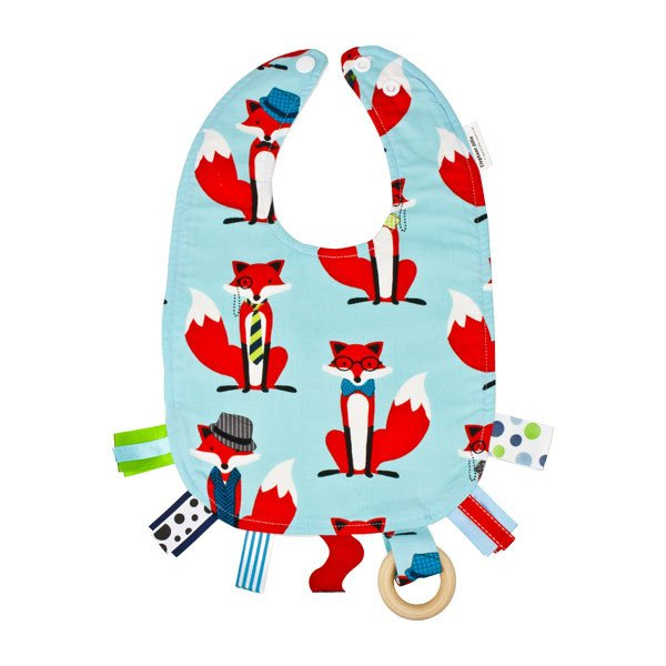 Elephant Ollie Teething Bib - Fox & Houndstooth | Koop.co.nz