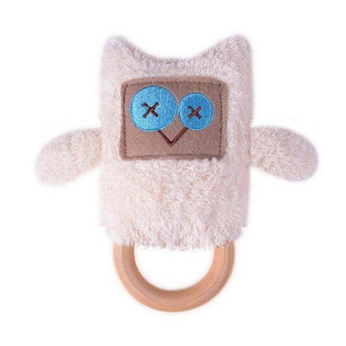 O.B Designs Ding A Ring Teether Rattle - Emma Owl | Koop.co.nz