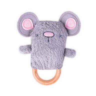 O.B Designs Ding A Ring Teether Rattle - Moe Mouse | Koop.co.nz