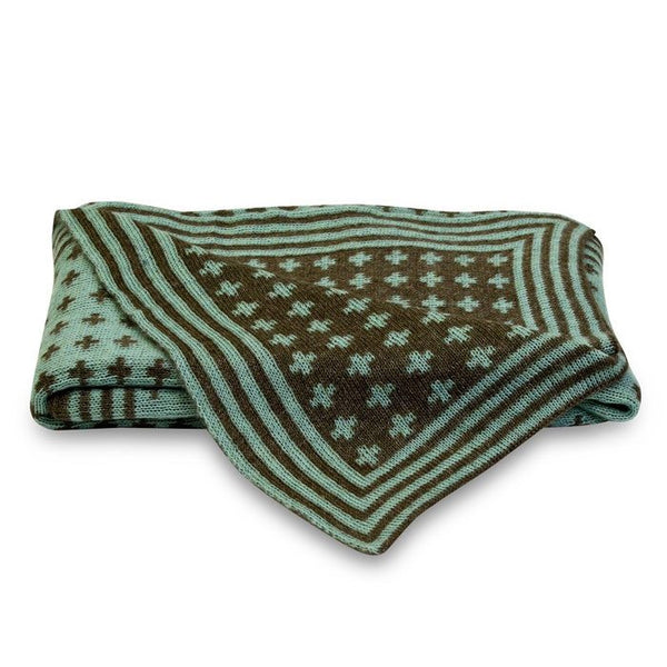 Me & My Trend Reversible Mint Cross Throw | Koop.co.nz
