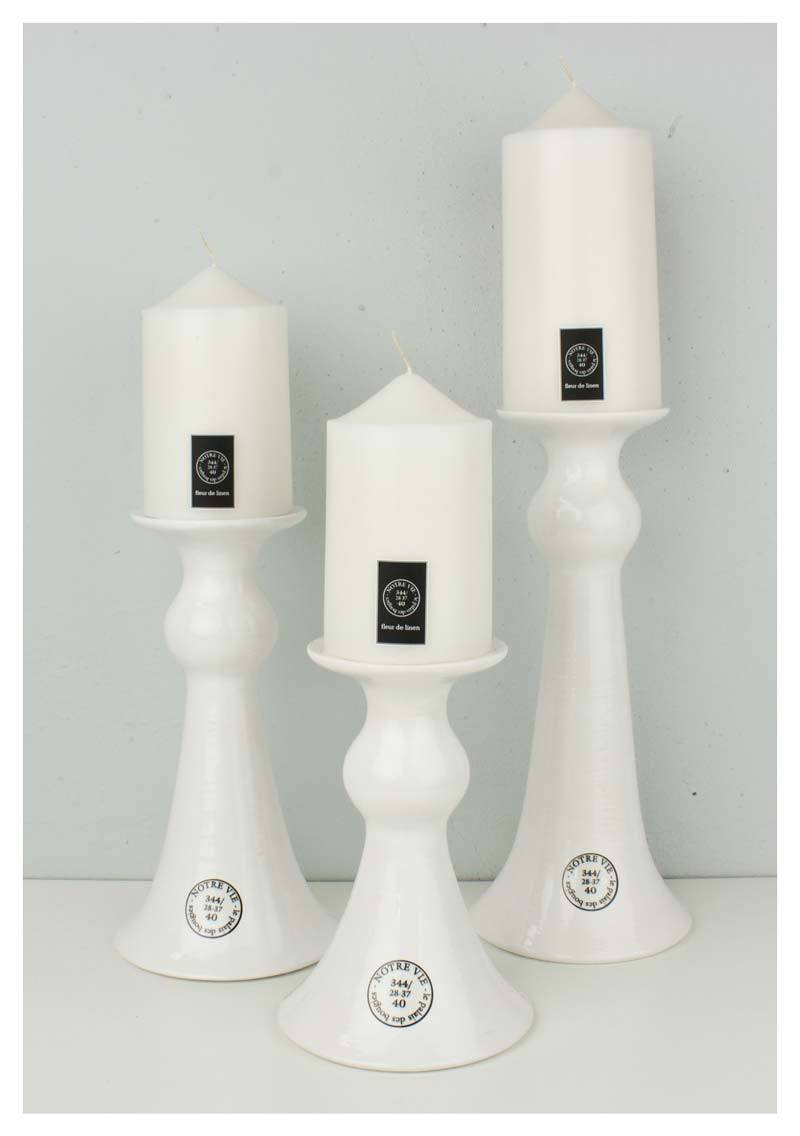 Notre Vie Glossy White Candle Holder - Small | Koop.co.nz