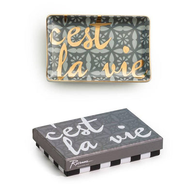 Rosanna Inc Trinket Tray - C'Est La Vie | Koop.co.nz