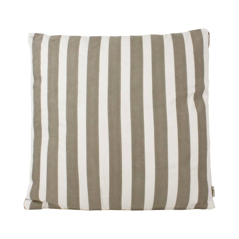 The Good Housewife Stripe Cushion - Flint Grey | Koop.co.nz