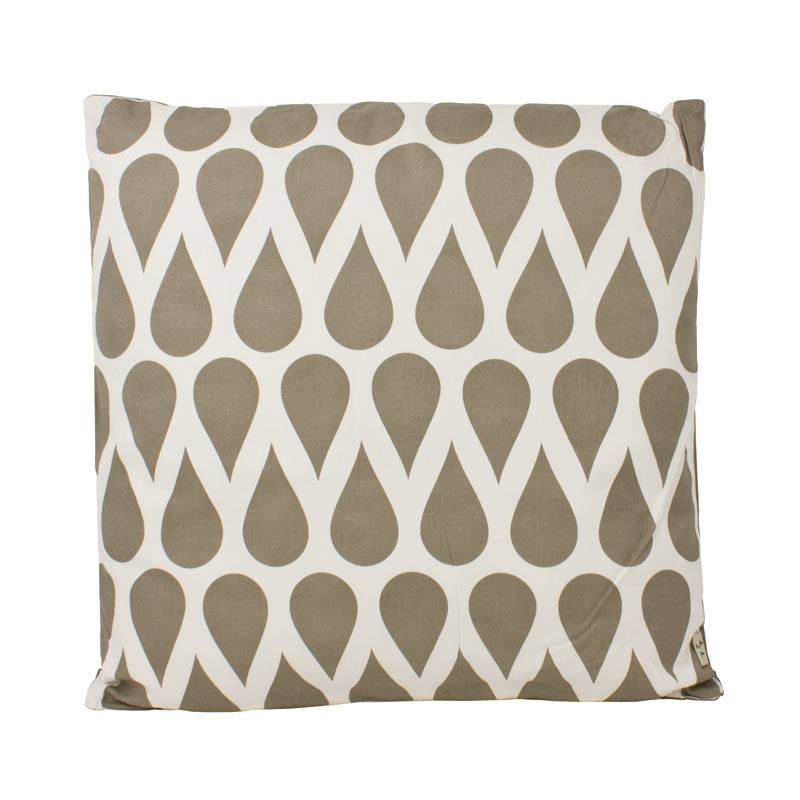 The Good Housewife Teardrop Cushion - Flint Grey | Koop.co.nz