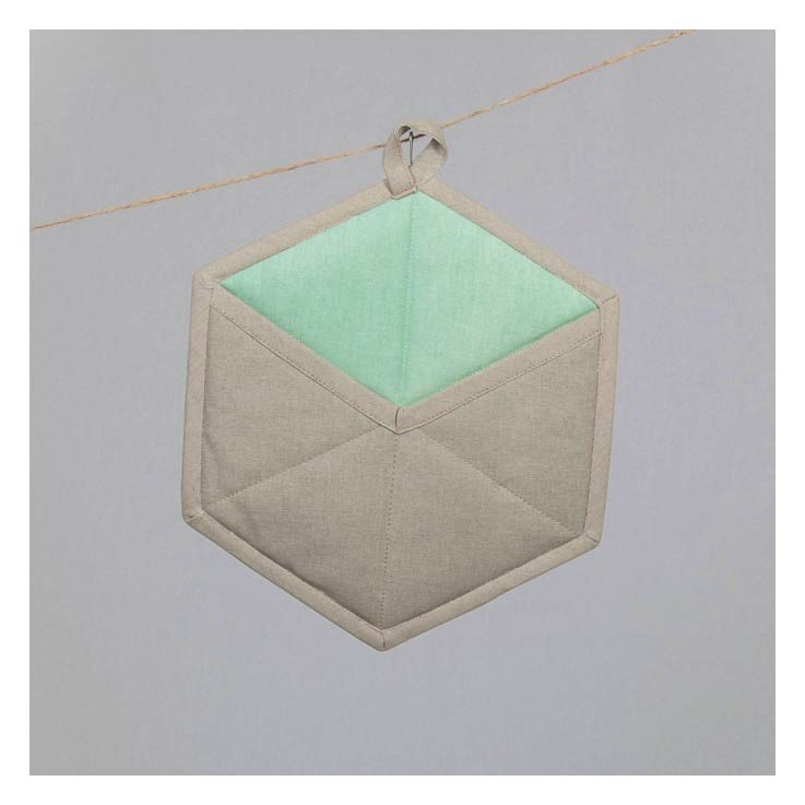 The Good Housewife Geometric Pot Holder - Silt Green | Koop.co.nz