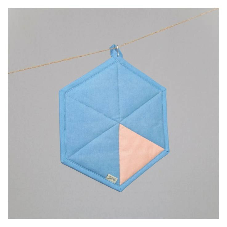 The Good Housewife Geometric Pot Holder - Placid Blue | Koop.co.nz