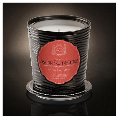 Aquiesse Portfolio Tin Candle with Matchbox - Passion Fruit & Citrus | Koop.co.nz