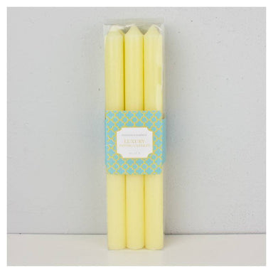 Stoneleigh & Roberson Luxury Dining Candles - Yellow (6pk) | Koop.co.nz