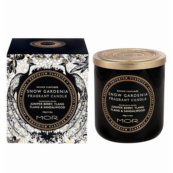 MOR Boutique Fragrant Black Soy Candle - Snow Gardenia | Koop.co.nz