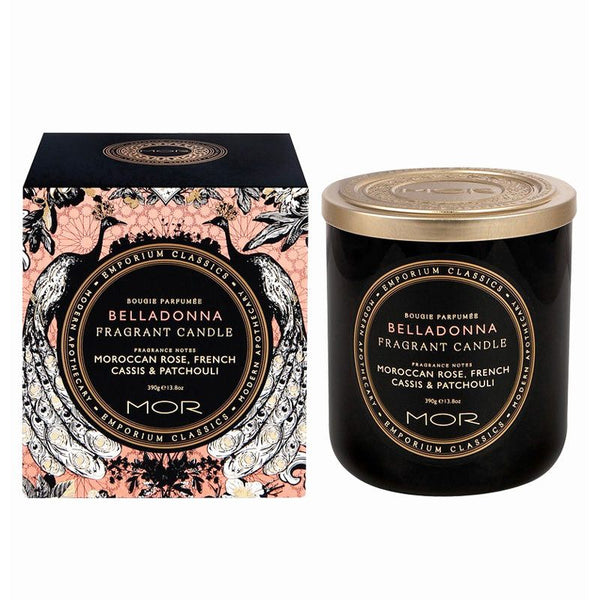 MOR Boutique Fragrant Black Soy Candle - Belladonna | Koop.co.nz