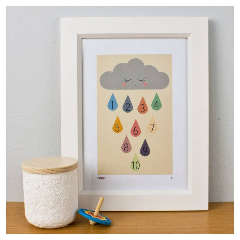 Pint Size Cloudy Days Print (A4) | Koop.co.nz