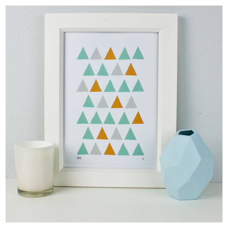 Dekor Studio Print (A4) - Tri Mint | Koop.co.nz