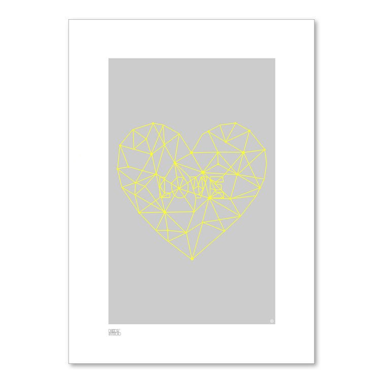Dekor Studio Print (A4) - Love Strings | Koop.co.nz