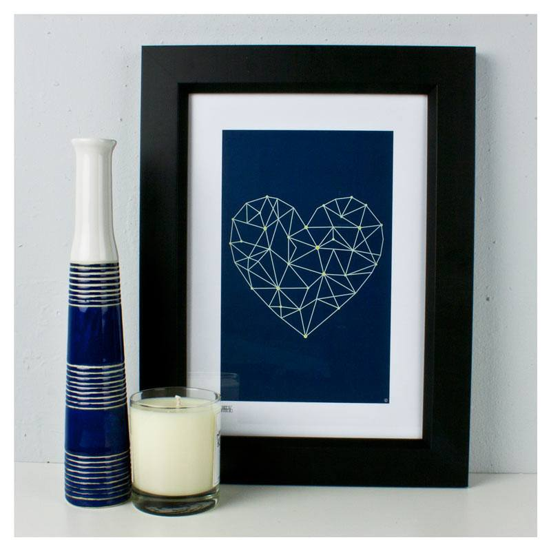 Dekor Studio Print (A4) - Heart Strings Blue | Koop.co.nz
