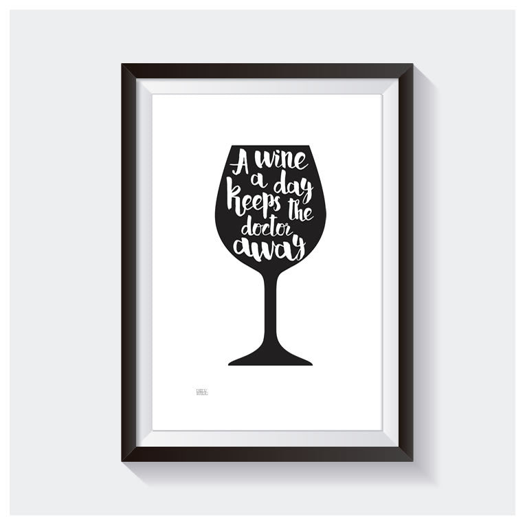 Dekor Studio A Wine A Day Wall Print | Koop.co.nz