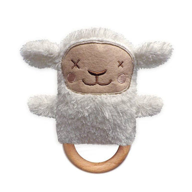 O.B Designs Ding A Ring Teether Rattle - Sheryl Sheep | Koop.co.nz