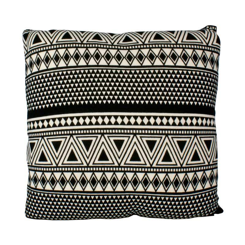Stoneleigh & Roberson Black & Cream Aztec Cushion | Koop.co.nz