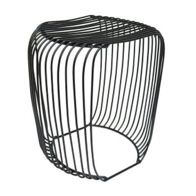 Jennifer Dumet Black Metal Stool | Koop.co.nz