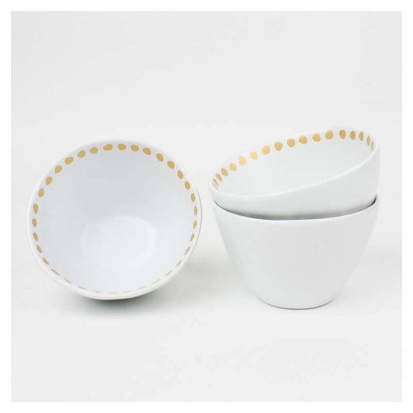 General Eclectic Gold Spot Dip Bowl - Small | Koop.co.nz