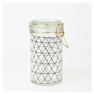Present Time Black Diamond Canister - Large | Koop.co.nz