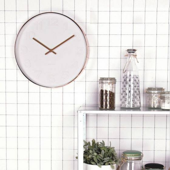 Present Time Black Grid Canister - Small | Koop.co.nz