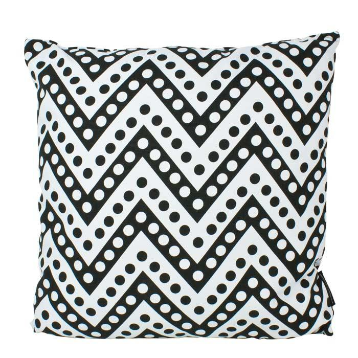 Stoneleigh & Roberson Polka Dot Chevron Cushion | Koop.co.nz