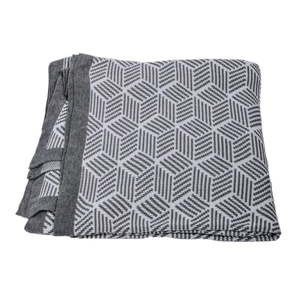 The Good Housewife Cotton Knit Hexagon Blanket | Koop.co.nz