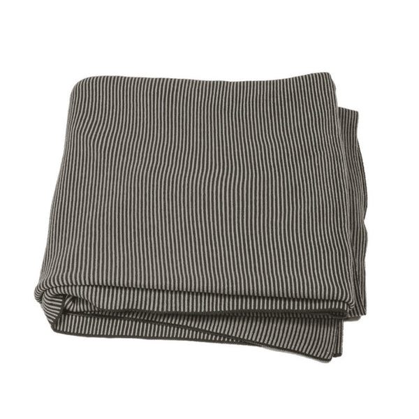 The Good Housewife Chunky Knit Stripe Blanket | Koop.co.nz