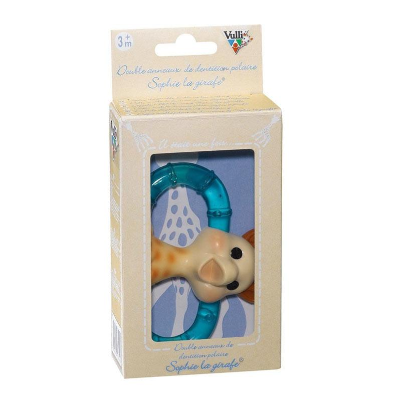 Vulli Sophie The Giraffe Double Ice Bite Teething Ring | Koop.co.nz