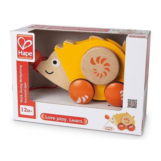 Hape Walk Along Hedgehog | Koop.co.nz