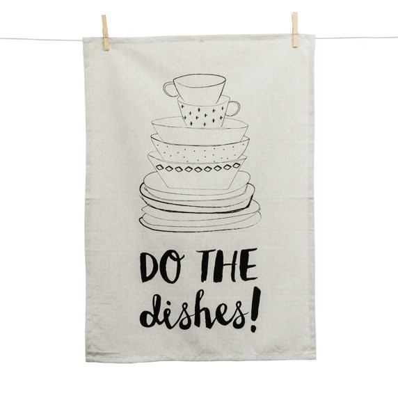 Linens & More Do The Dishes Stack Tea Towel | Koop.co.nz