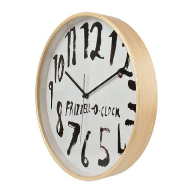 100% New Zealand Dick Frizzell Clock - White (32cm) | Koop.co.nz