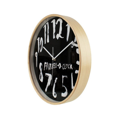 100% New Zealand Dick Frizzell Clock - Black (32cm) | Koop.co.nz