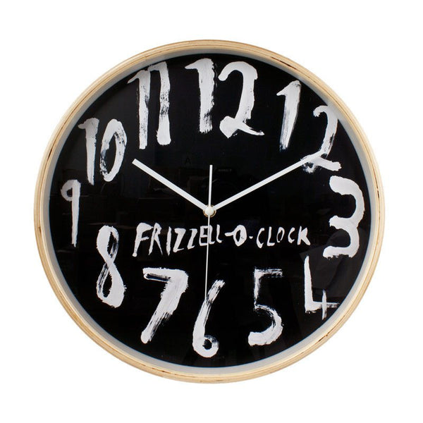 Dick Frizzell Clock - Black (32cm)