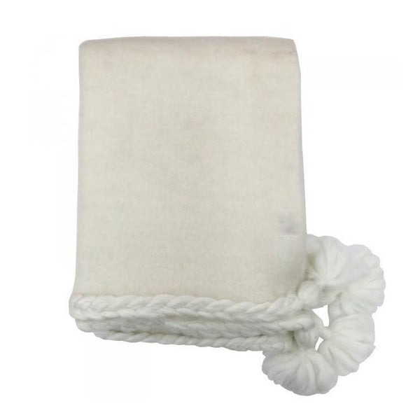 Le Forge Plait Throw – Ivory | Koop.co.nz