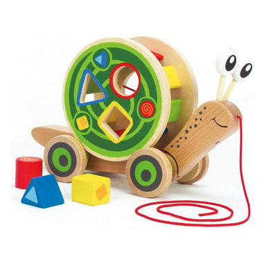 Hape Walk Along Snail Shape Sorter (5pc) | Koop.co.nz