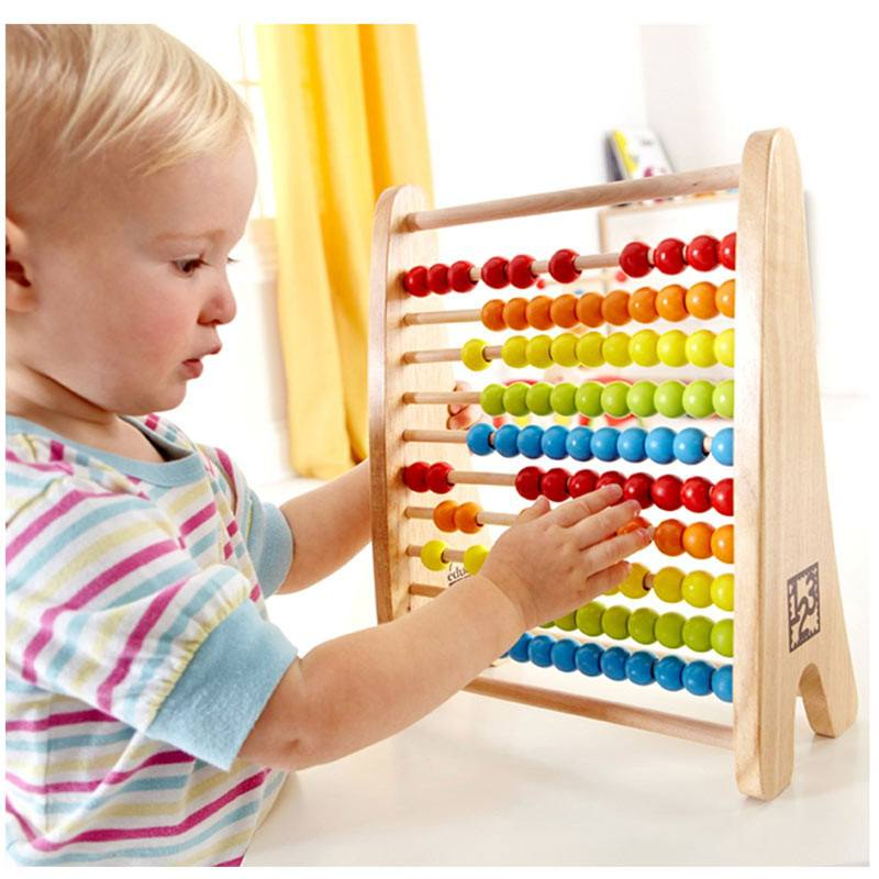 Hape Rainbow Counting Bead Abacus | Koop.co.nz