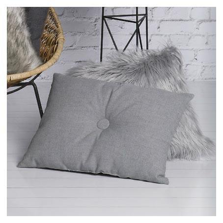 Jason Grey Faux Fur Cushion (45cm) | Koop.co.nz