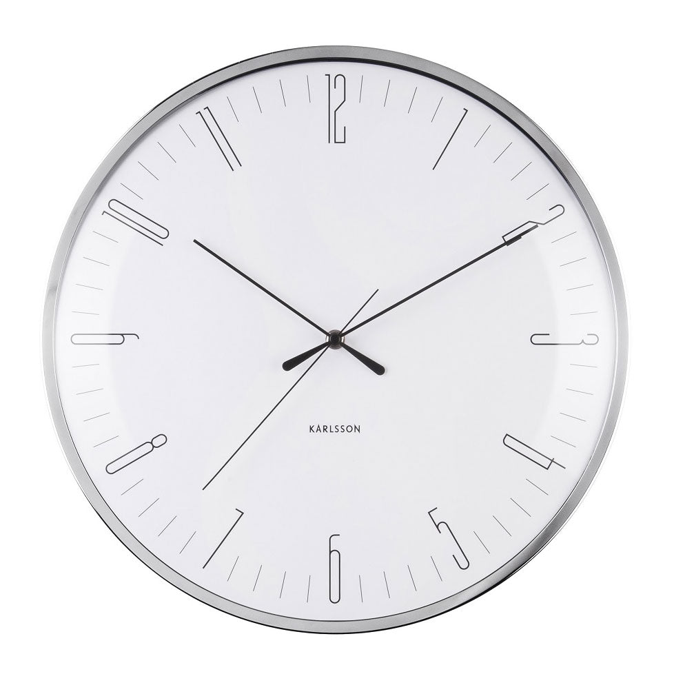 Karlsson Dragonfly White Wall Clock (40cm) | Koop.co.nz