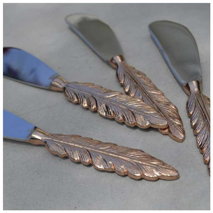 Old Mill Road Rose Gold Feather Spreader | Koop.co.nz
