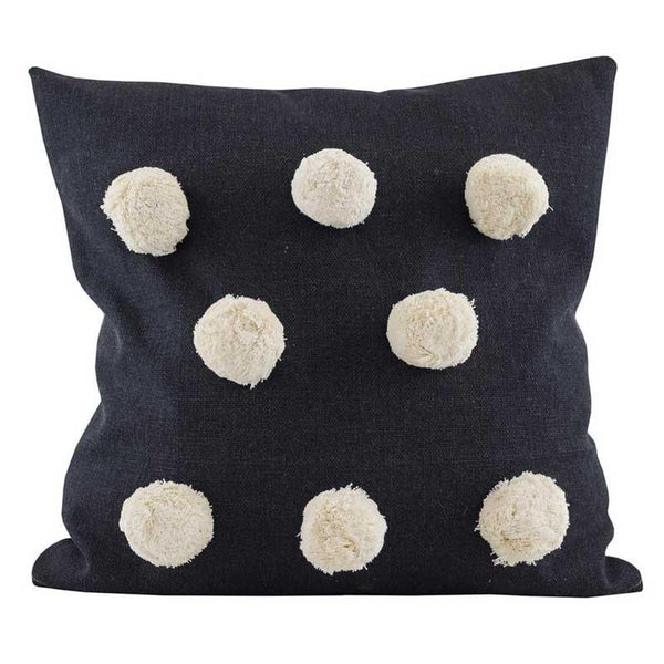Raine & Humble Black Pom Pom Cushion | Koop.co.nz