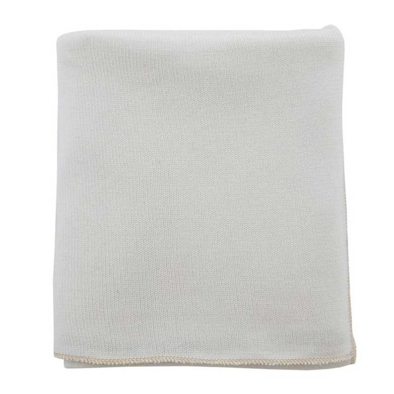 Raine & Humble Cream Knit Throw with Gold Trim | Koop.co.nz